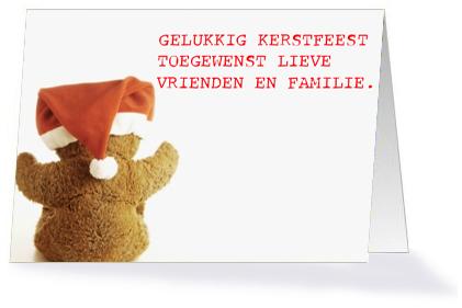 Kerstkaart | teddybeer